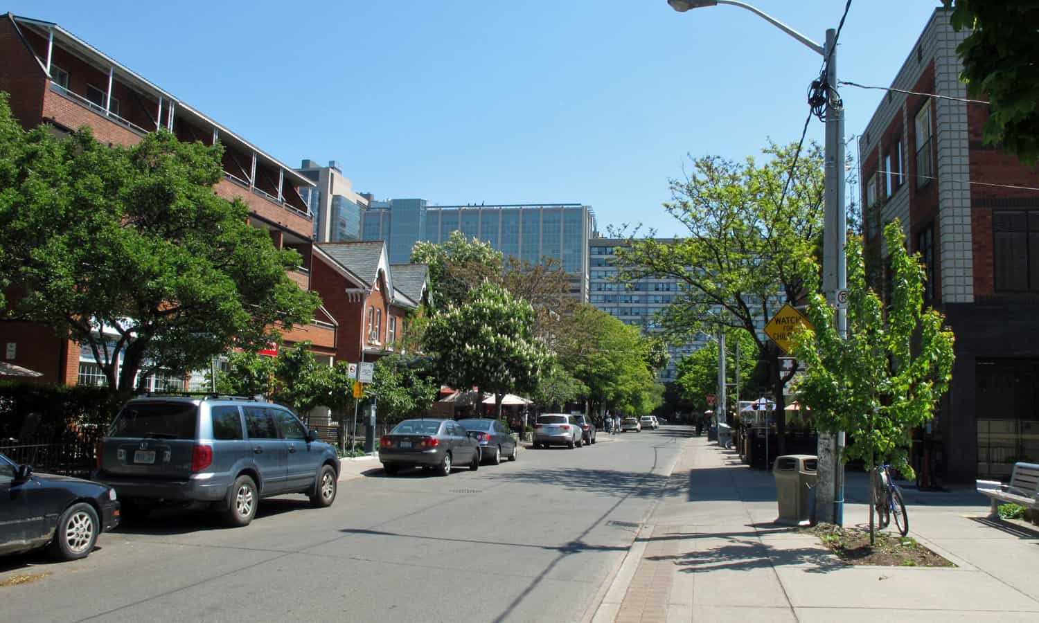 Looking north on Henry Street