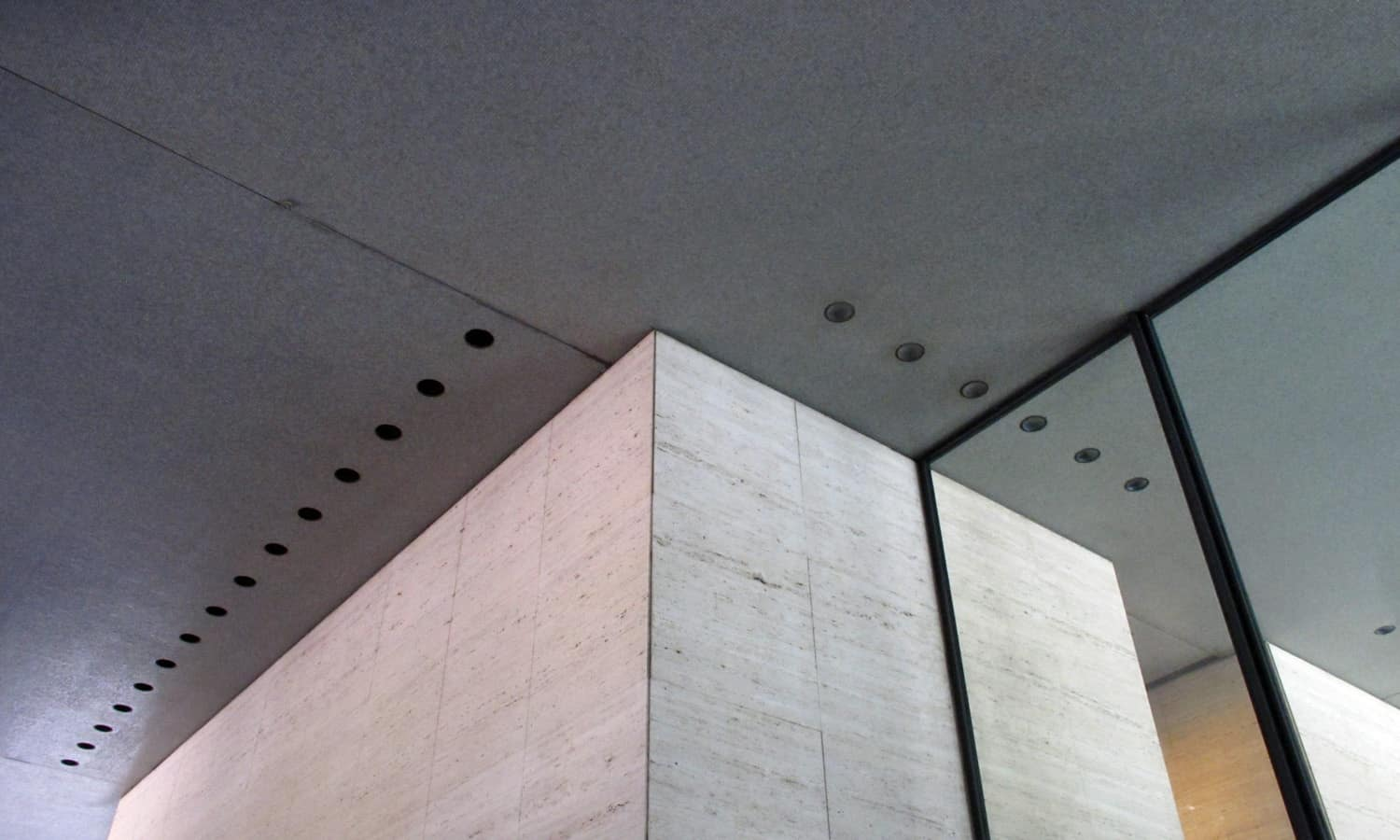 Detail at the underside of the tower overhang