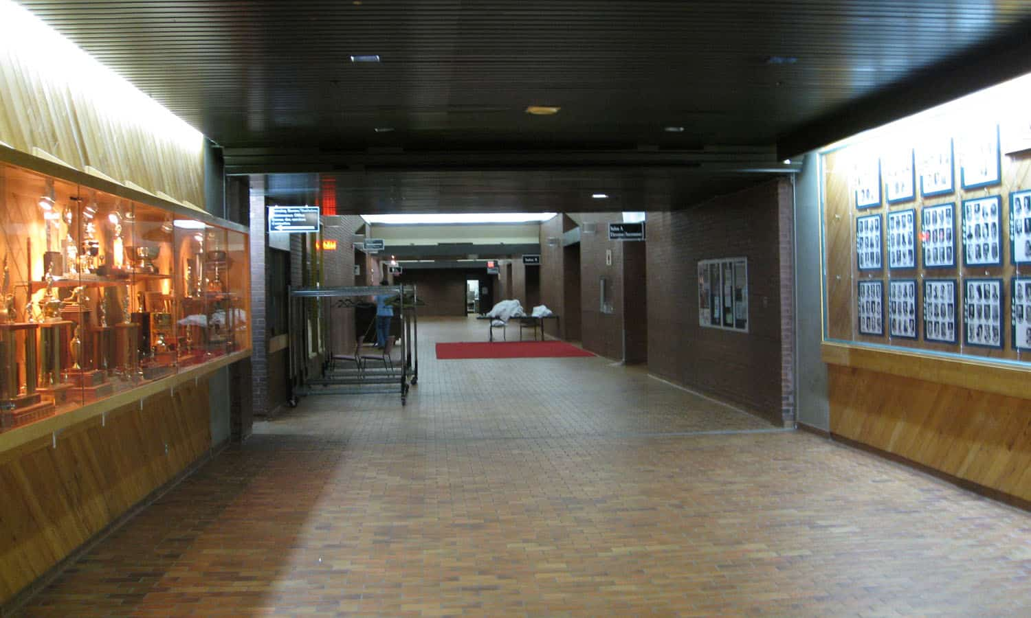 Lower level concourse (typically not used during games)