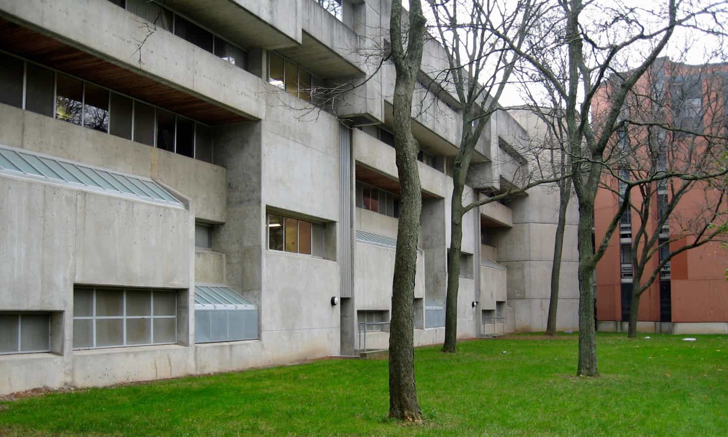 Exterior focusing on the concrete elevations