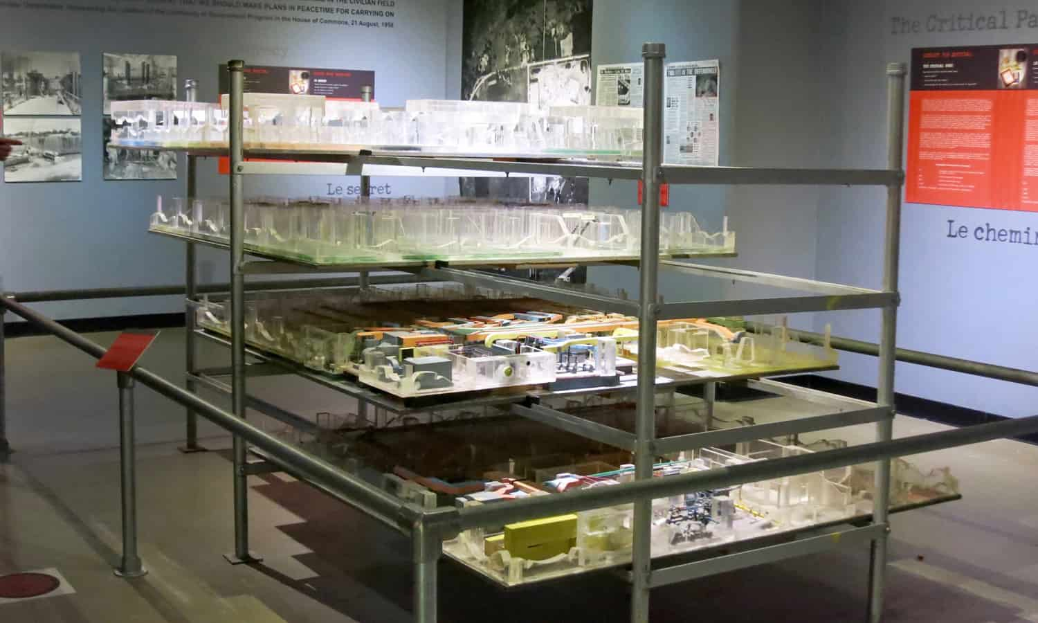 Model of the Diefenbunker and its multiple underground levels