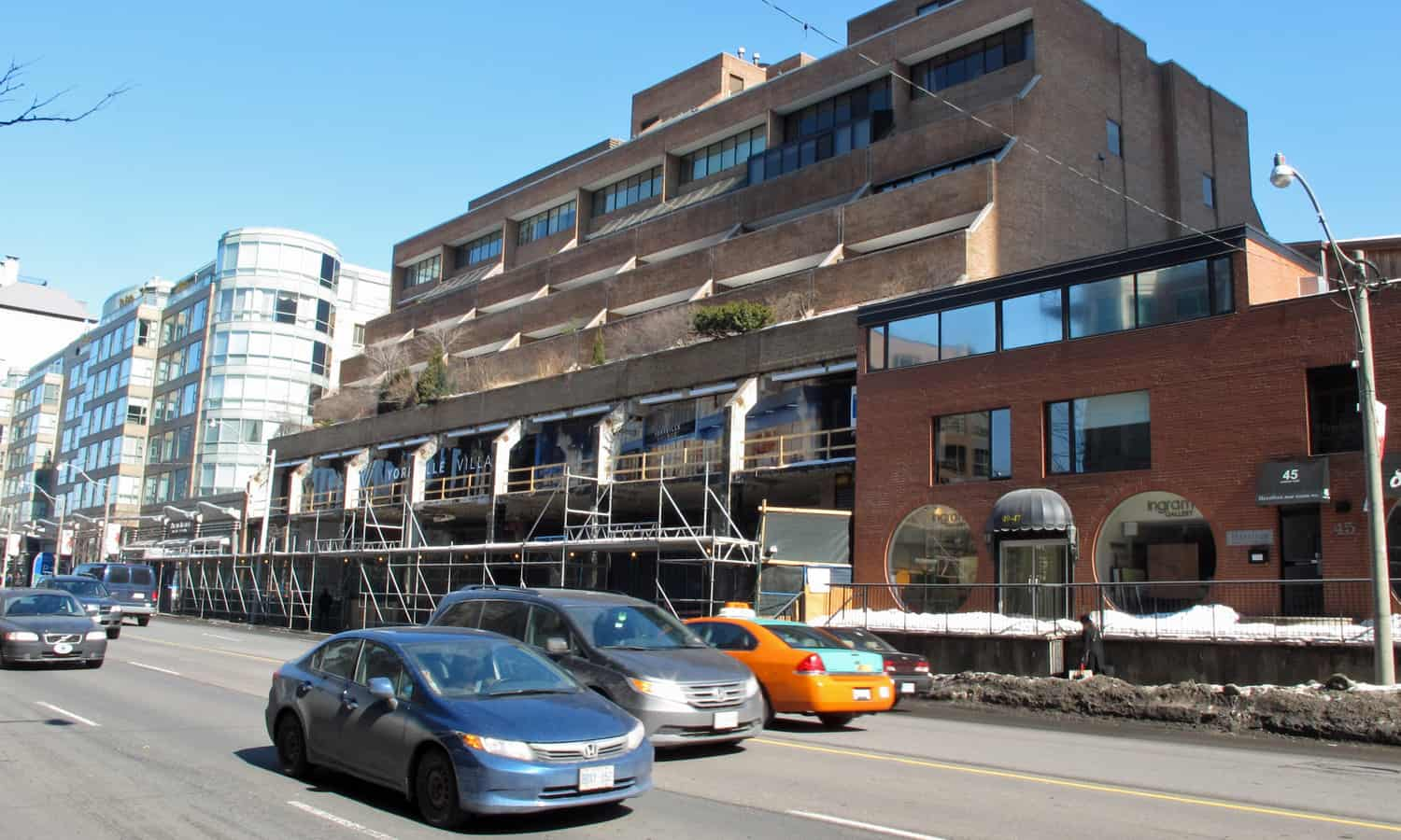 Yorkville Village receiving a new front (just north of York Square on Avenue Road)