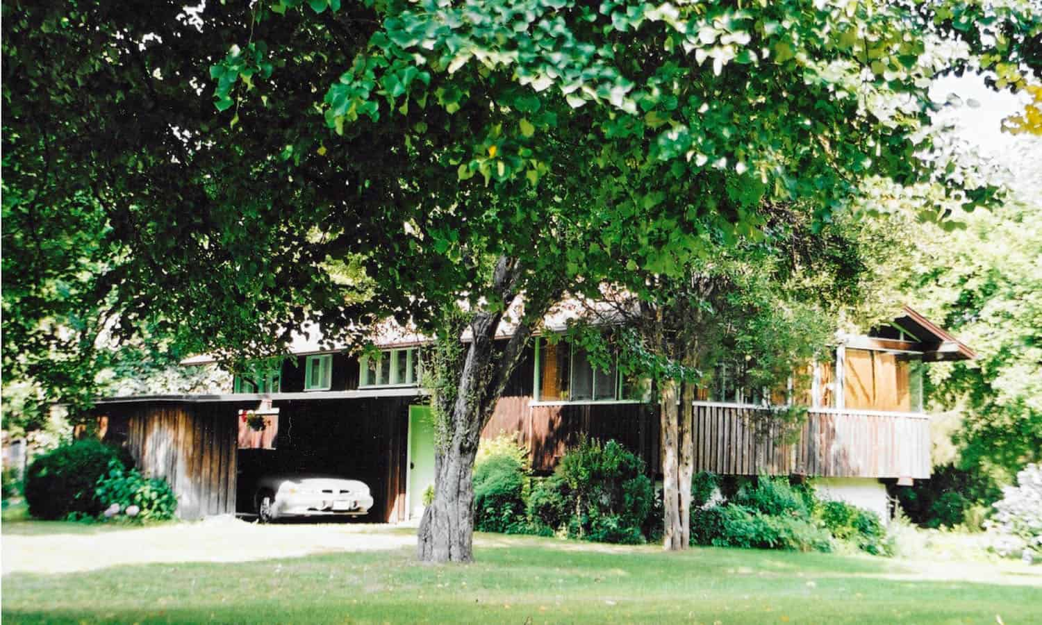 The two-bedroom, gabled house was designed by Vancouver architect Fred Brodie